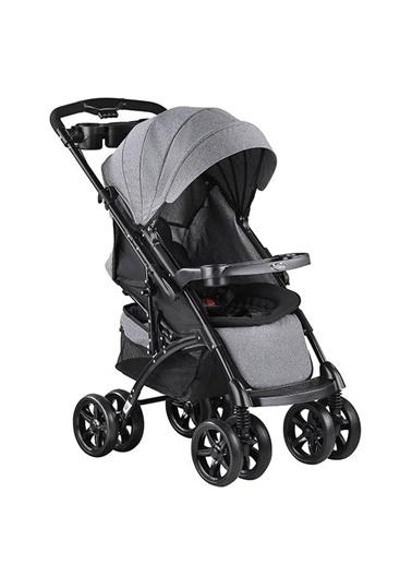 BabyHope Babyhope Bh609-92 Polo Çift Yönlü Bebek Arabasi - Kirçilli Siyah Renkli